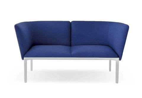 Blue, Furniture, Couch, Electric blue, Outdoor furniture, Rectangle, Cobalt blue, Azure, Black, studio couch,