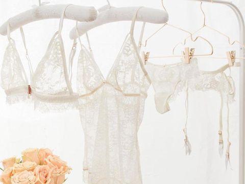 White, Clothing, Lingerie, Beige, Dress, Undergarment,