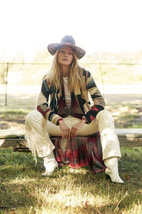 tendenze moda country autunno 2020 cardigan patchwork polo ralph lauren
