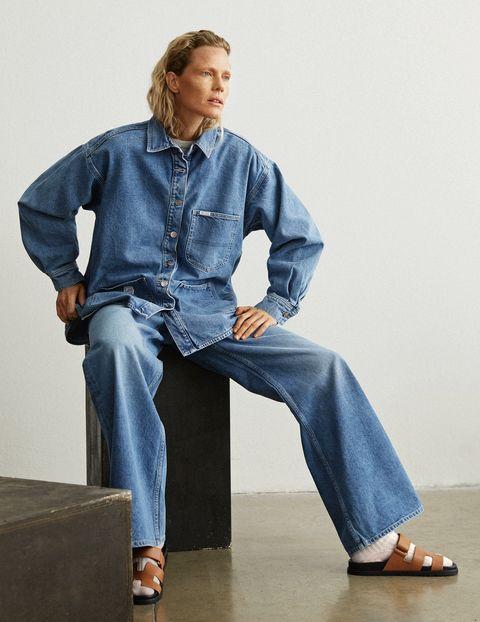 tendenze moda jeans primavera 2021 camicia lee h and m