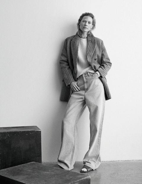 tendenze moda jeans primavera 2021 giacca mango