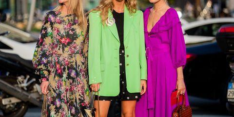 Clothing, Fashion, Street fashion, Pink, Outerwear, Fashion model, Blazer, Jacket, Spring, Magenta,