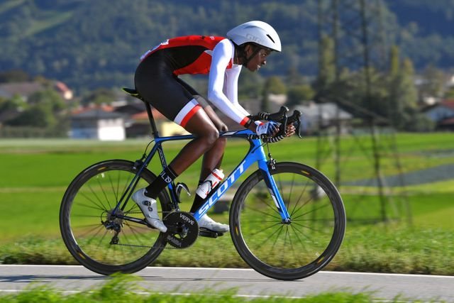teniel campbell at the 91st uci road world championships 2018   women elite individual time trial