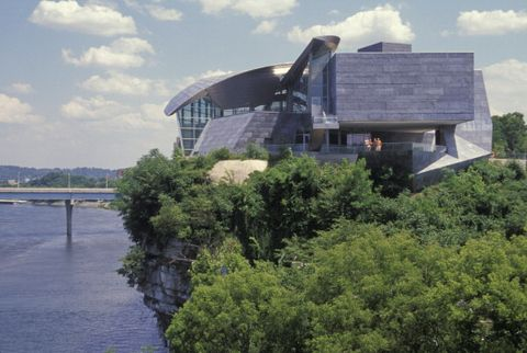 tennessee, chattanooga tennessee river and hunter museum of art