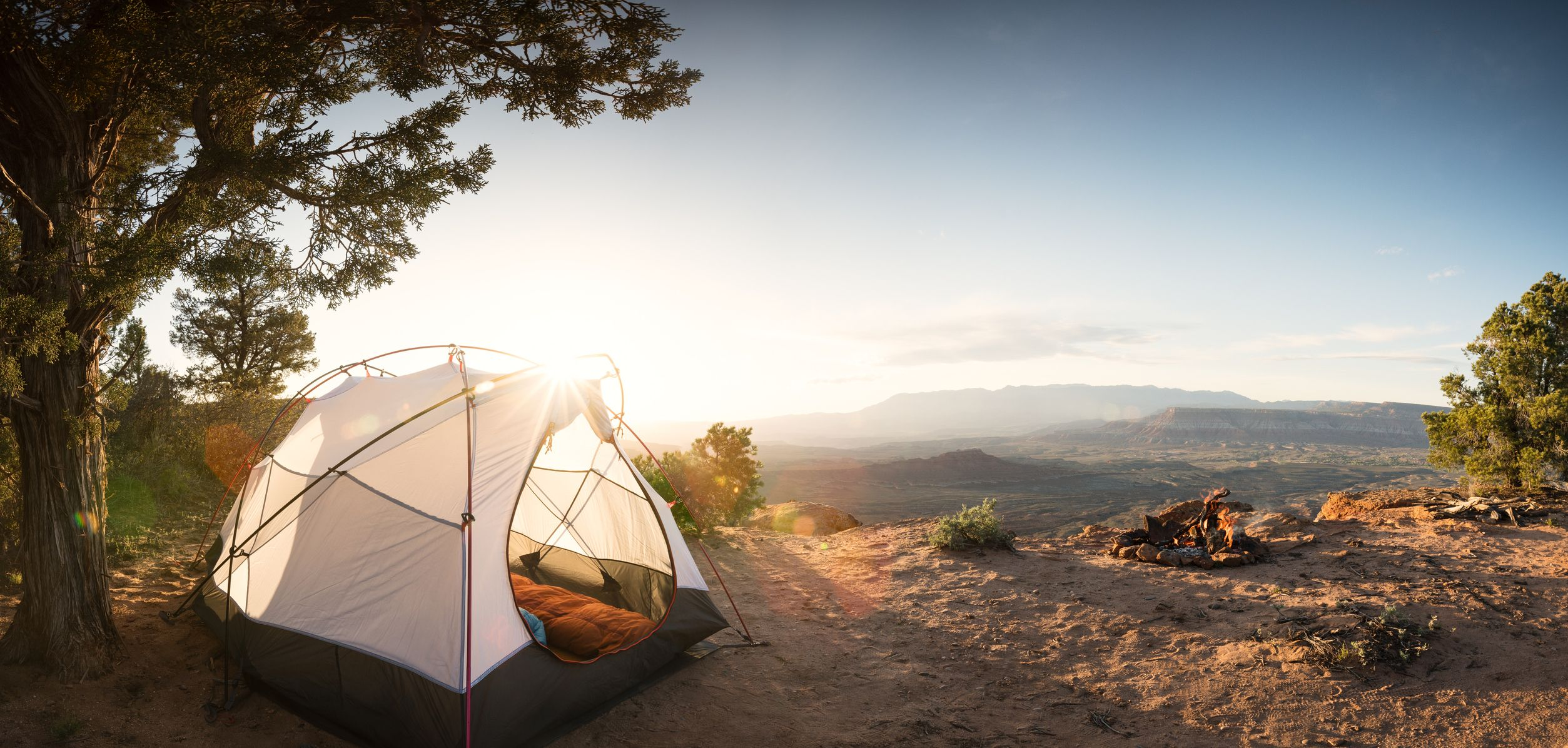 Tent C&ing Under a Pinon Tree in the Desert First Morning Light and a C&fire & 9 Best Tents of 2018 - Best Tents for Camping and Backpacking