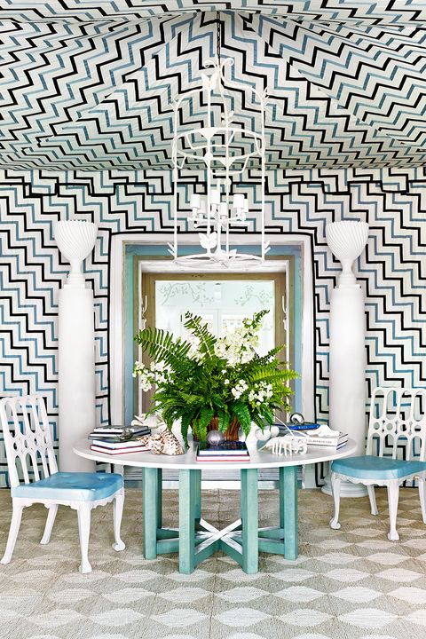 Property, Furniture, Room, Building, Interior design, Wall, Tile, House, Turquoise, Table,