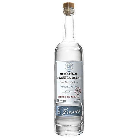 bottle of tequila ocho plata