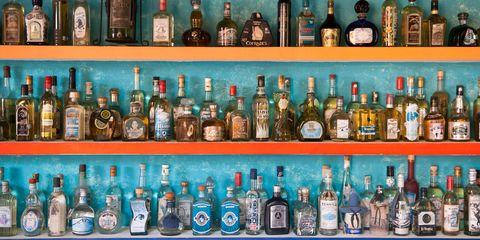 Bottle, Alcohol, Liqueur, Drink, Glass bottle, Distilled beverage, Alcoholic beverage, Product, Collection, Beer bottle,