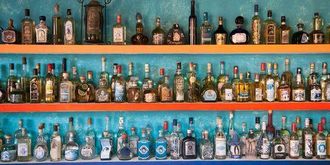 Bottle, Glass bottle, Alcohol, Liqueur, Drink, Distilled beverage, Product, Alcoholic beverage, Collection, Beer bottle,