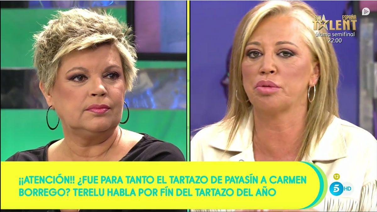Terelu Campos y Belén Esteban en 'Sálvame'