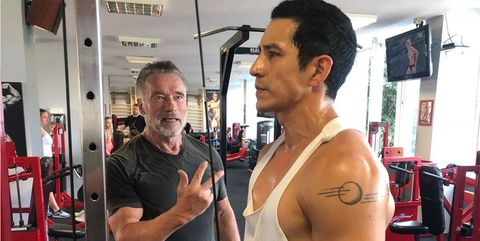 Arnold Schwarzenegger y Gabriel Luna, Terminator