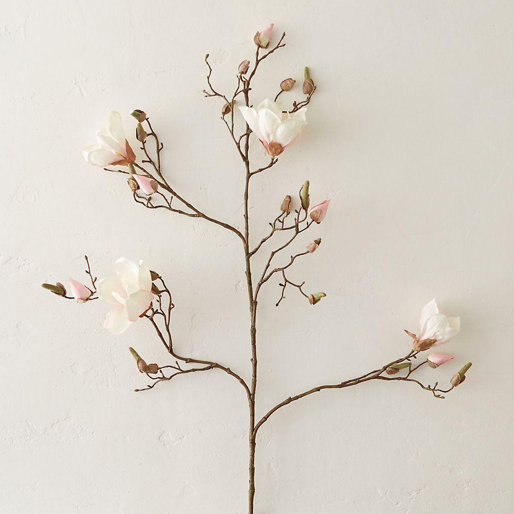 Terrain Faux Magnolia Branch