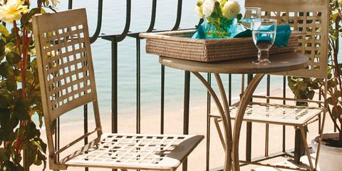 Furniture, Chair, Table, Room, Outdoor table, Interior design, Outdoor furniture, Folding chair, Home, Floor,