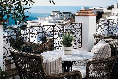 hotel plaza 18, cÁdiz terraza con vistas