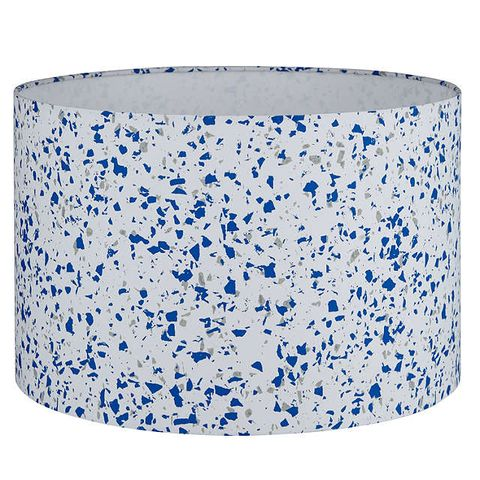 House by John Lewis Terrazzo Lampshade, Cobalt
