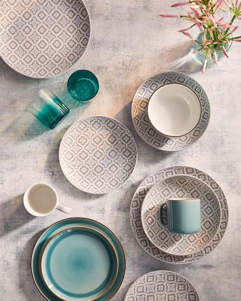 Tesco SS20 homeware collection - bowls, cups and plates