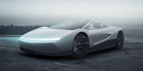 Tesla Cybercar render by Jidens Creative