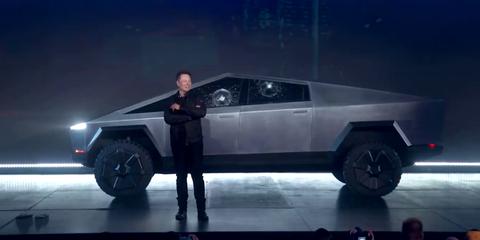 Tesla Cybertruck cristal roto