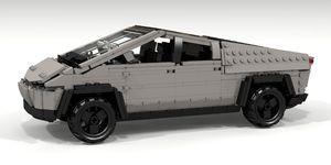 Tesla Cybertruck replica Lego