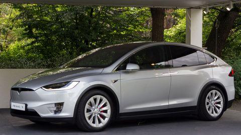 Tesla Model X. 2018 edition of Parco Valentino car show...