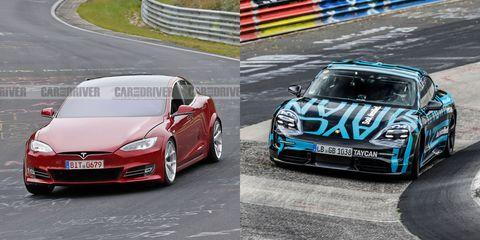 Tesla Porsche Nurburgring