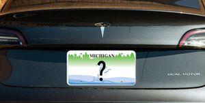 Tesla Model 3 vanity plate
