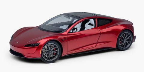 Tesla Roadster escala 1:18 Diecast