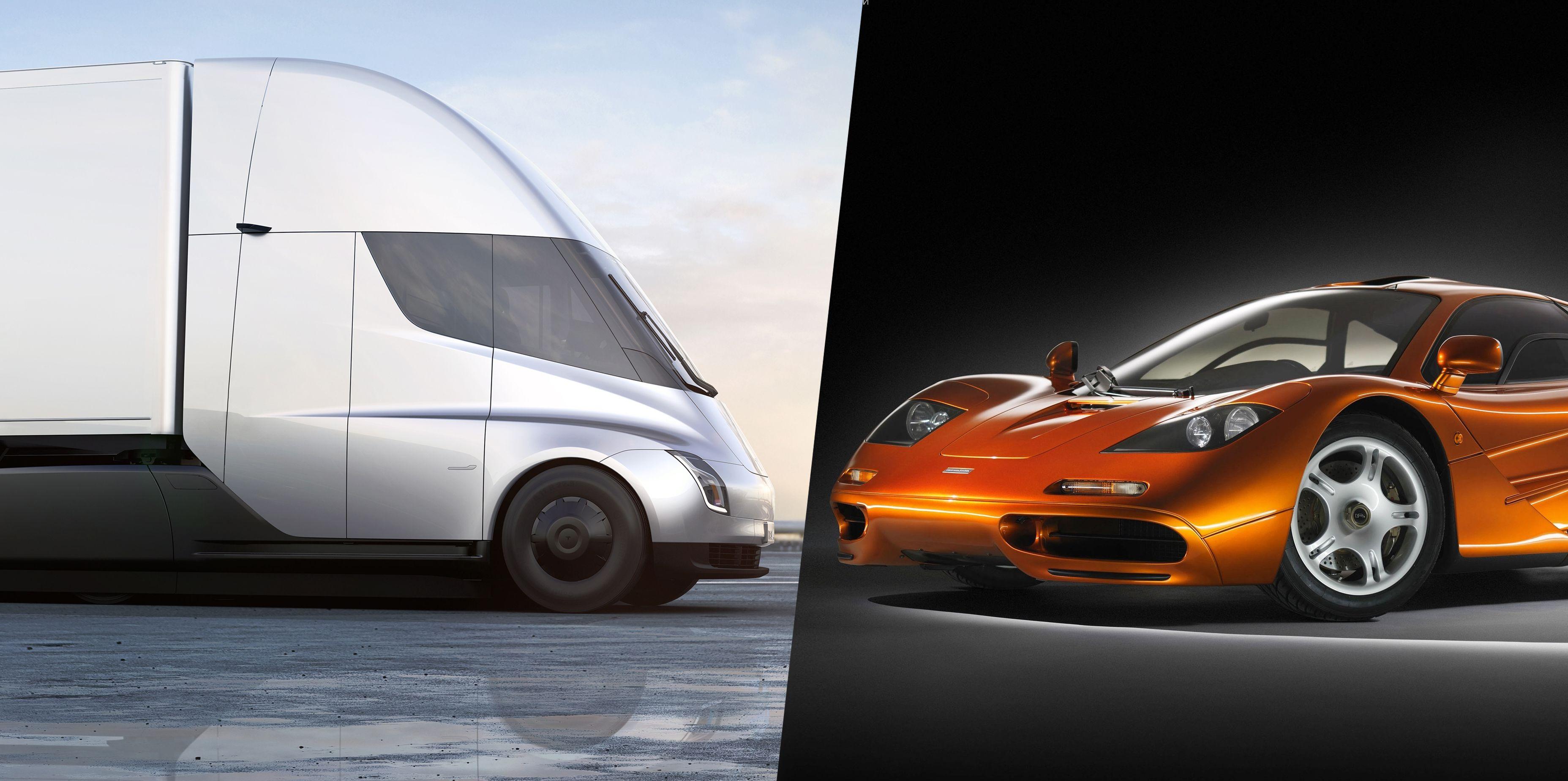 Tesla Electric Truck >> How Tesla's Electric Semi Truck Was Inspired by Elon Musk's McLaren F1