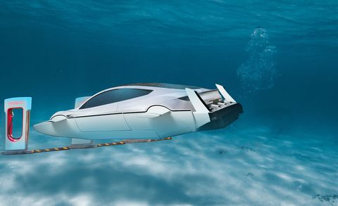 Elon Musk Says Tesla Has a Design for an Electric Submarine—Wait, What?
