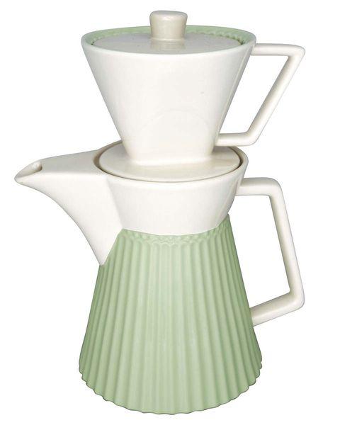 Tetera verde con taza