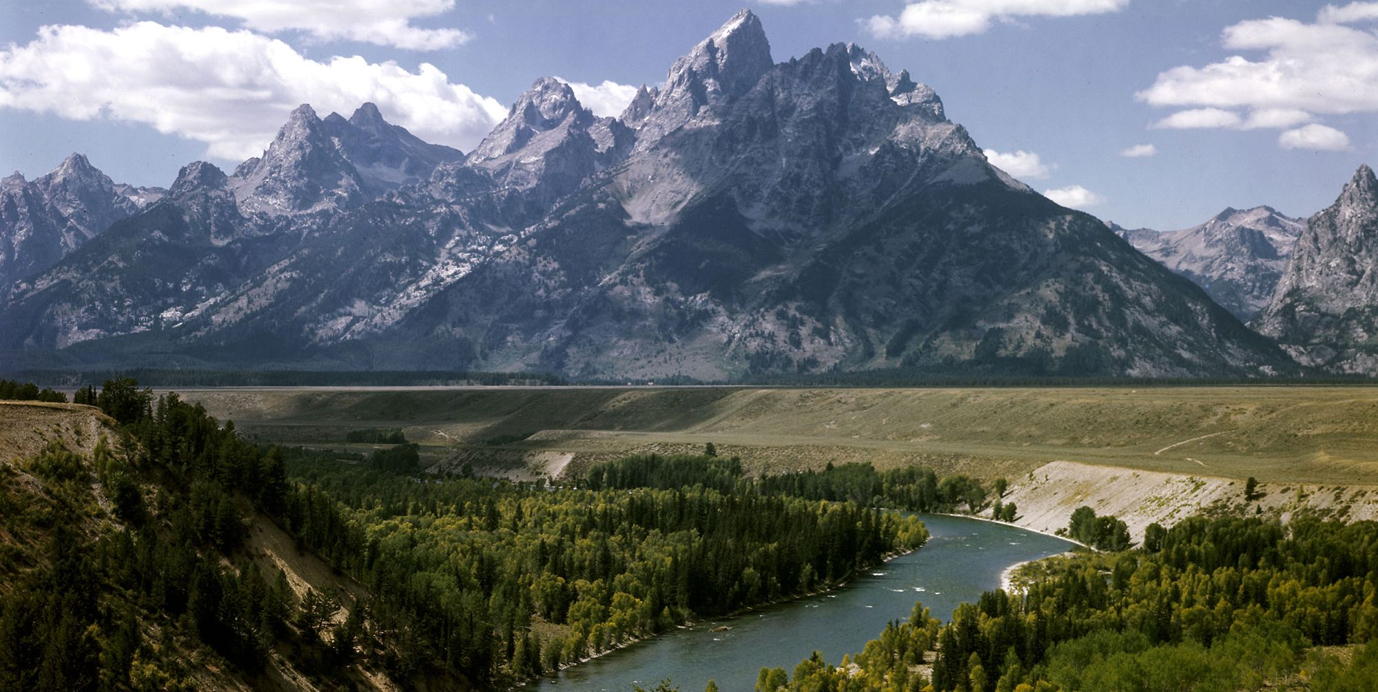 Snake River with the Grand Tetons in the