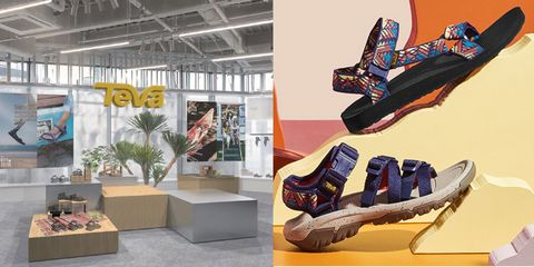 Footwear, Shoe store, Shoe, Design, Athletic shoe, Interior design, Building,