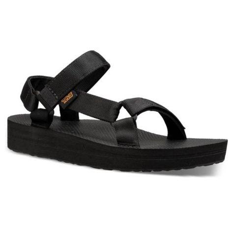 teva midform sandalen met dikke zool
