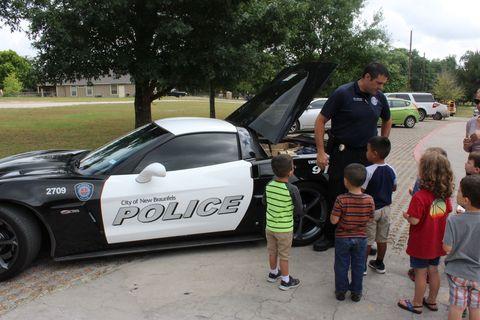 police car corvette