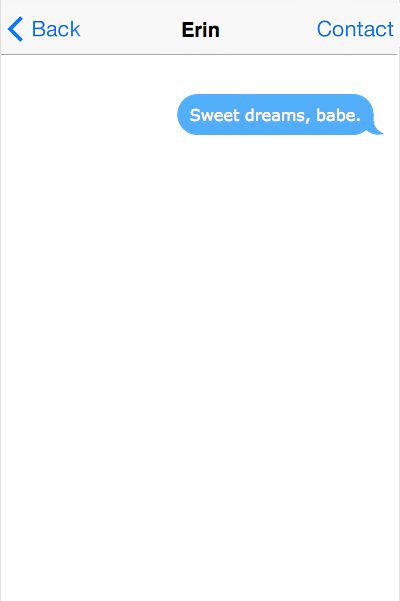 a sweet goodnight text for him