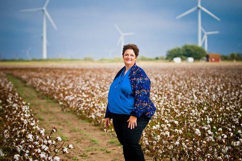 La Rhea Pepper organic cotton farmer