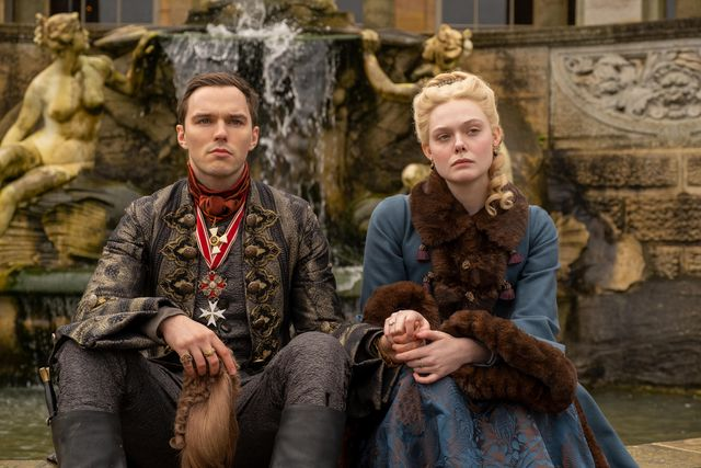 the great    meatballs at the dacha   episode 108    catherine's political abilities are tested when she's given an opportunity to travel abroad with peter and velementov to discuss ending the war with swedish king velementov finally sees the potential of her leadership and decides to support the coup back at the palace, leo wants to leave court marial tries to keep him there by telling him about the coup peter nicholas hoult and catherine elle fanning, shown photo by ollie uptonhulu