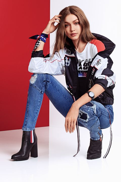 8ab7ce46d Gigi Hadid x Tommy Hilfiger Racing-Inspired Collection - Tommy x ...