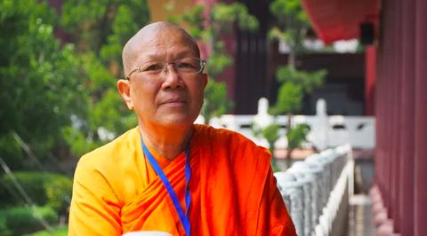 Lama, Monk, Temple, Smile, Zen master, Elder,