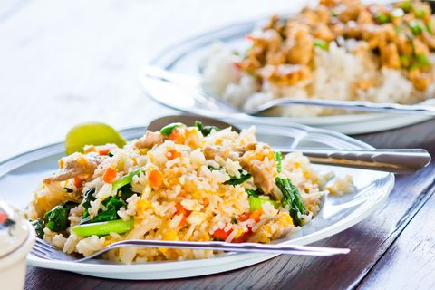 Thai style fried rice with crab.