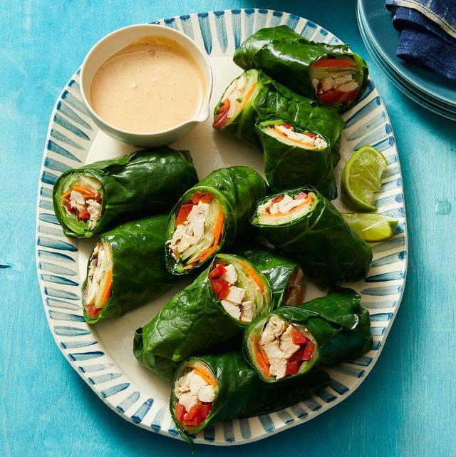 thai style peanut chicken wraps