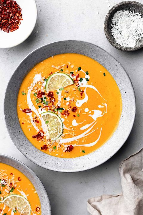 thai sweet potato carrot soup recipe