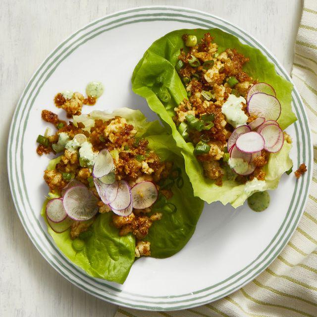thai turkey lettuce cups recipe