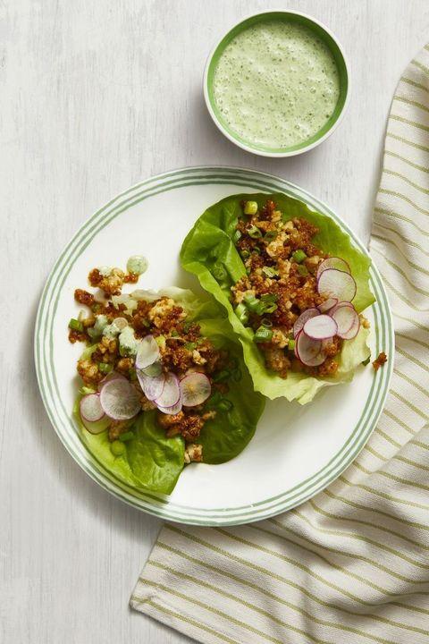 ground turkey recipes - Thai Ground Turkey Lettuce Cups