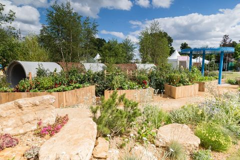 Hampton Court Palace Flower Festival winning gardens