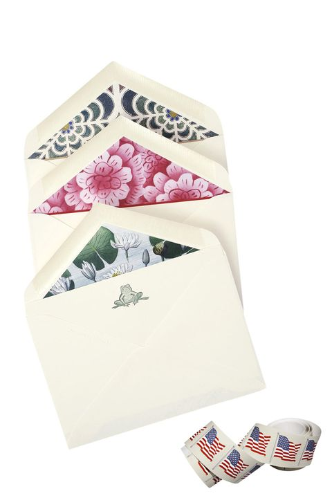 thank-you notes and stamps