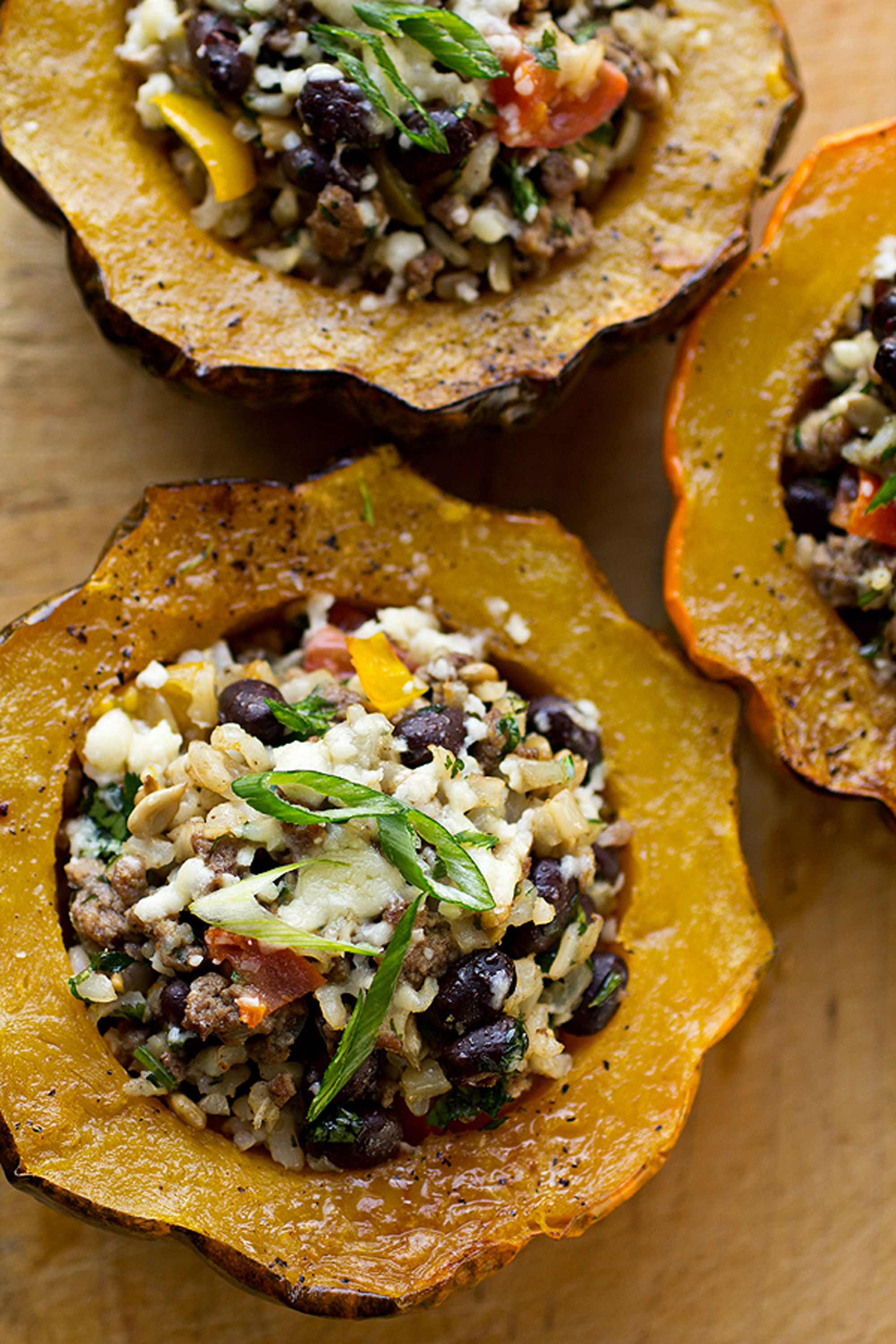 thanksgiving acorn squash roasted