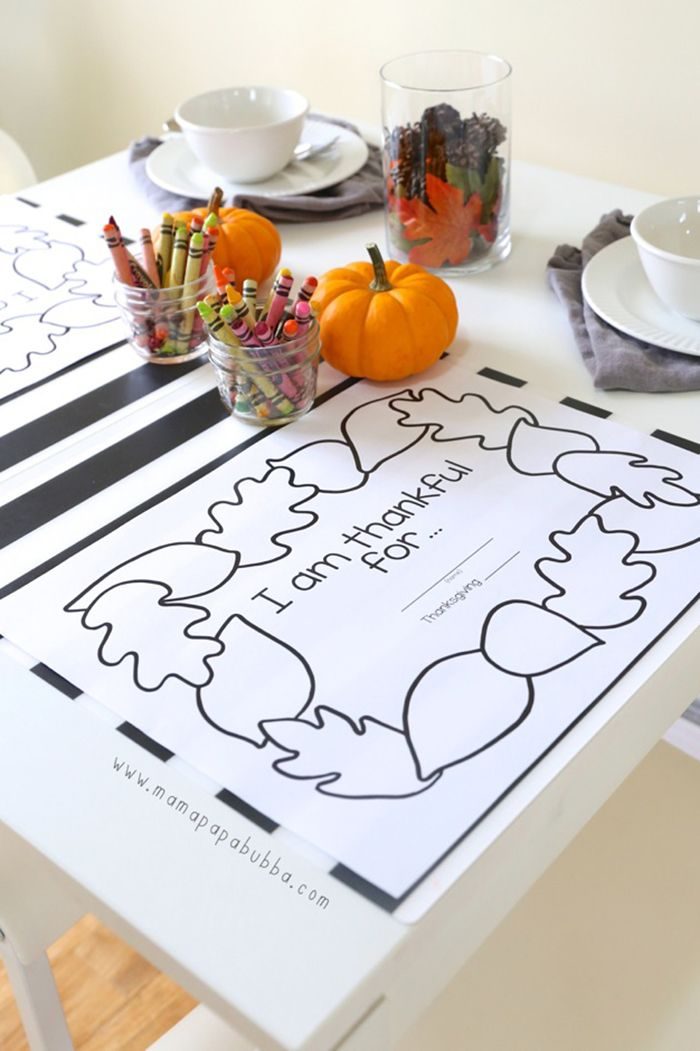thanksgiving activity coloring placemats