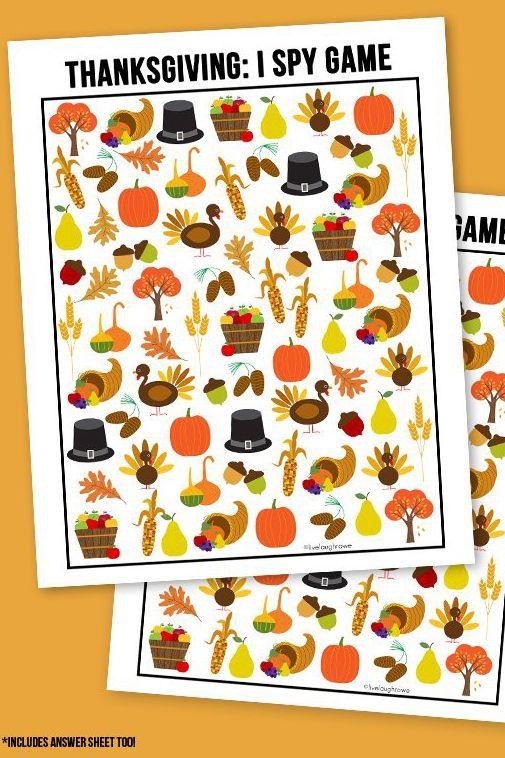 thanksgiving activity i spy game