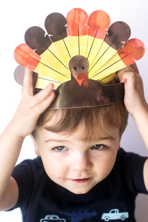 thanksgiving activities kids turkey crowns